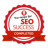 Recipe for SEO success completion badge