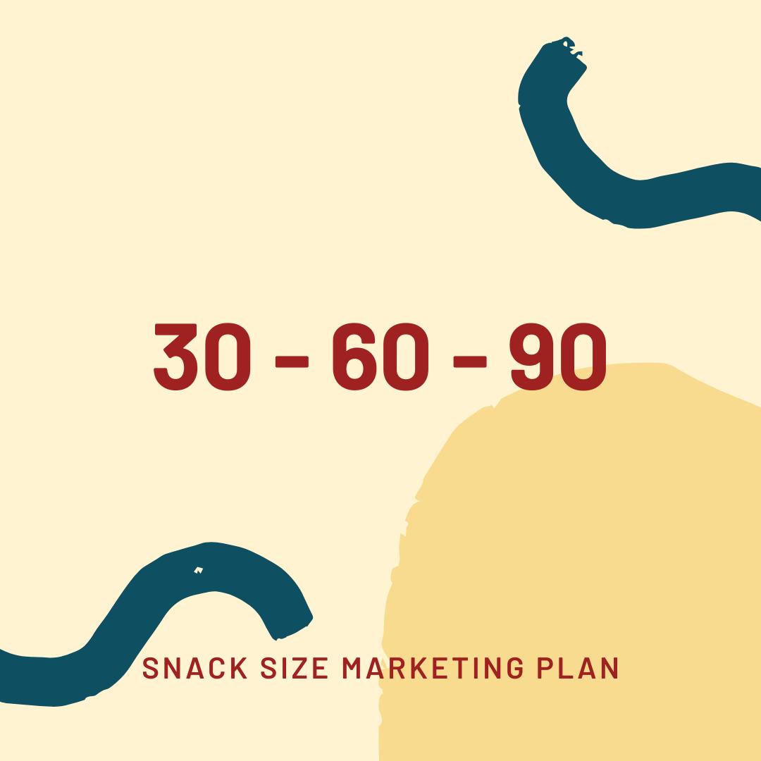 30-60-90 snack size marketing plans