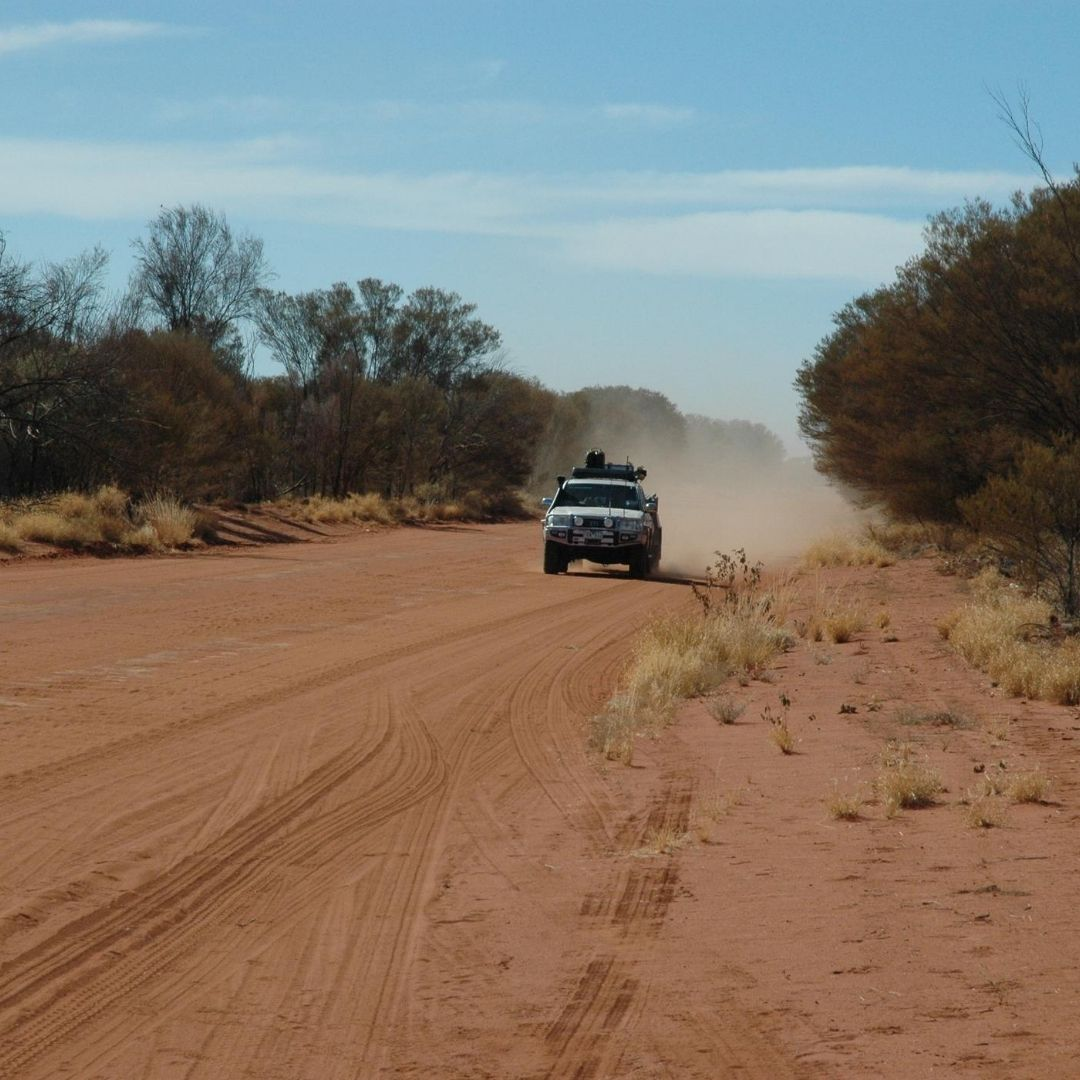 Landcruiser on outback dirt road
