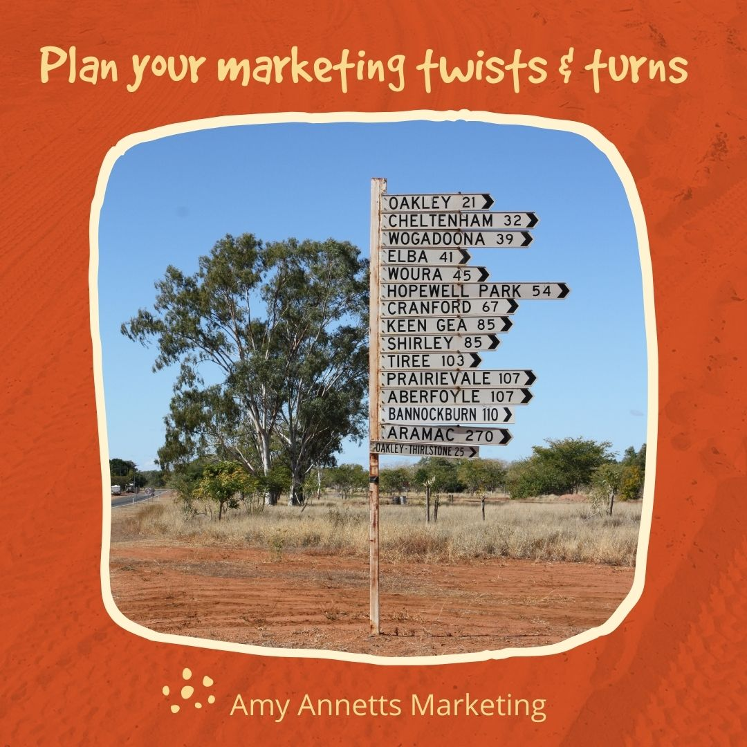 plan your marketing twists and turns